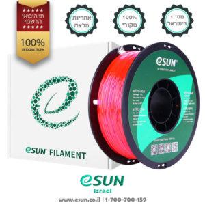 esun-israel-etpu-95a-Transparent-pink-1kg-flexible-filament-for-3d-printer